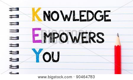 Key As Knowledge Empowers You Text