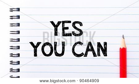 Yes You Can Text Written On Notebook Page