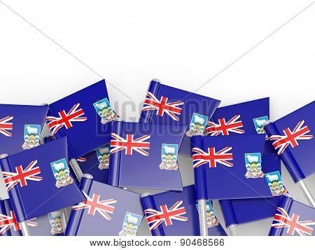 Flag Pin Of Falkland Islands