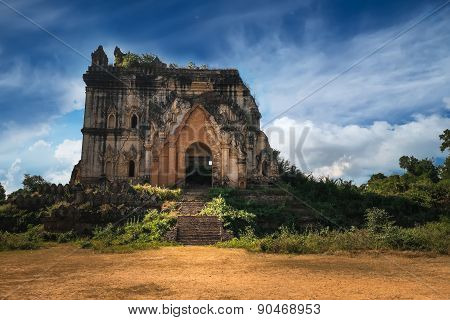 Buddhist Temple Ruins In Inwa City. Myanmar (burma)