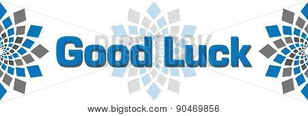 Good Luck Blue Grey Square Elements
