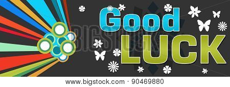 Good Luck Black Abstract Colorful Banner