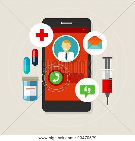 health caal doctor medication mobile phone