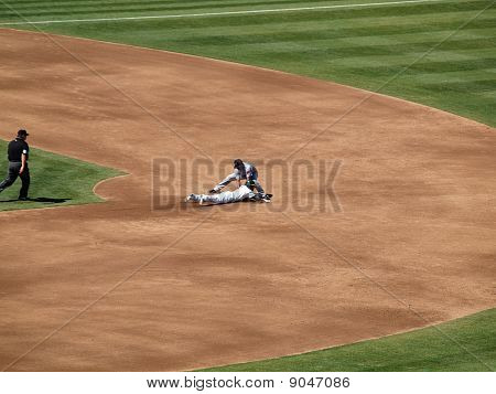 Coco Crisp Slides Into 2Nd During A Steal As 2Nd Baseman Place A Tag Moments To Late