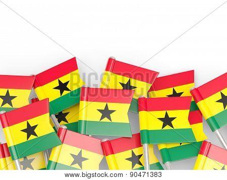 Flag Pin Of Ghana