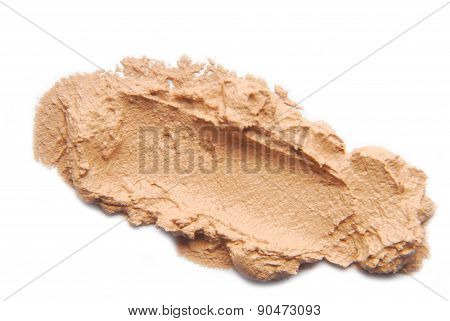 makeup foundation sample isolated on white