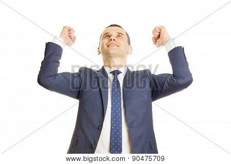 Happy Businessman In A Victory Pose