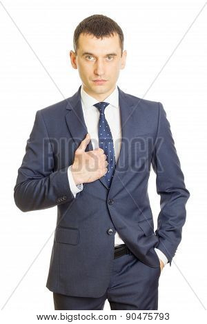 Young Businessman Wearing An Elegant Suit