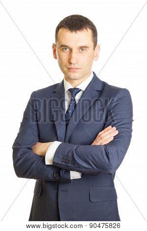 Businessman Folding One's Arms