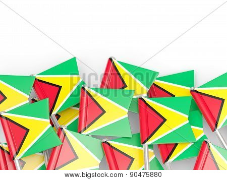 Flag Pin Of Guyana