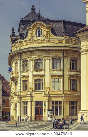 The Great Square And The City Hall, Sibiu, Romania