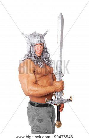 Muscular Medieval Warior.