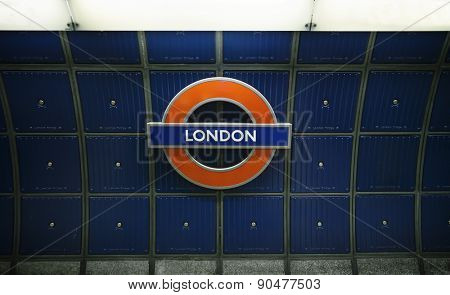 London, England, May,11,2015 London Bridge underground tube station. The London Underground is the oldest underground railway in the world covering 402 km of tracks.