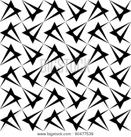 Seamless Grid Pattern. Abstract Triangle Background. Vector Regular Texture
