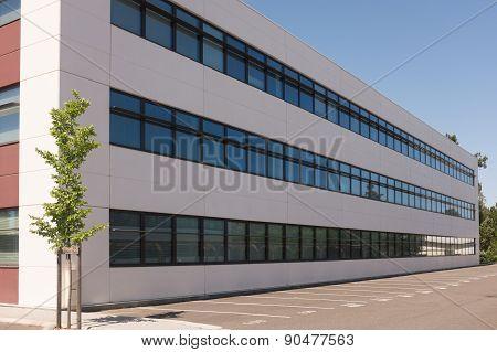 Modern New Office Building Under A Blue Sky