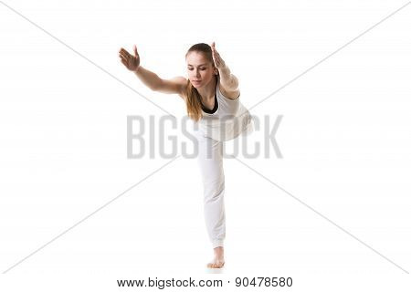 Yoga Pose Warrior 3