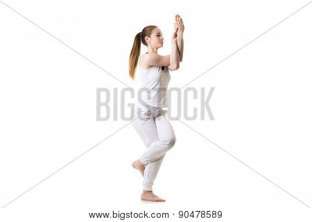Yoga Eagle Pose