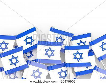 Flag Pin Of Israel
