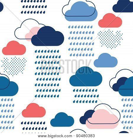 Blue Rain Pattern