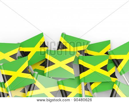 Flag Pin Of Jamaica