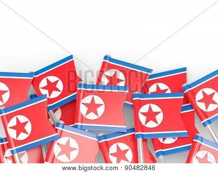 Flag Pin Of North Korea