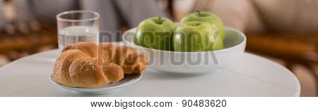 Croissant And Green Apples
