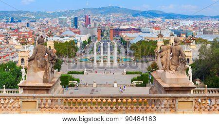 Placa De Espanya panorama