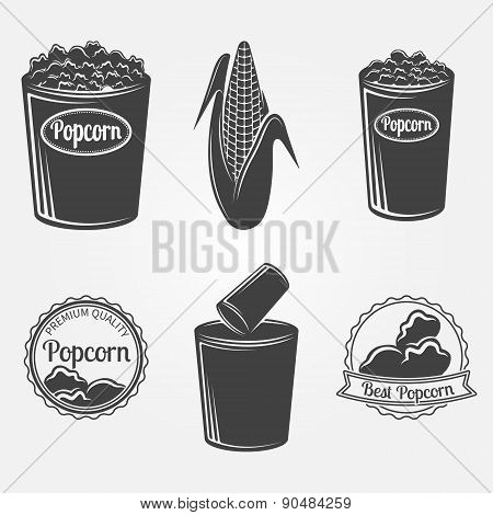 Popcorn logo or signs