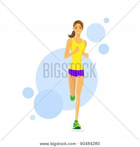 Sport Woman Run Fitness Girl Runner Jogging
