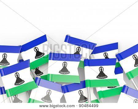 Flag Pin Of Lesotho