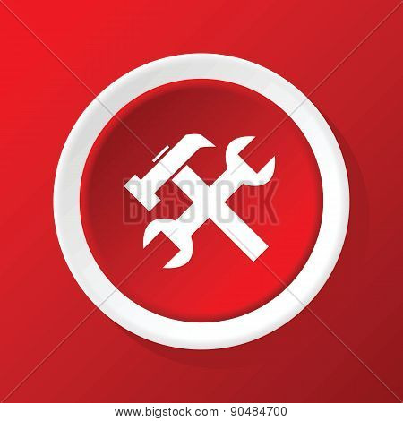 Repair icon on red