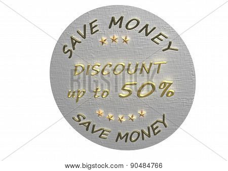 Discount 50 Product Badge.