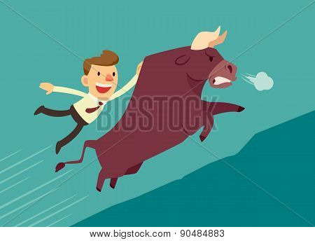 Businessman On A Bull