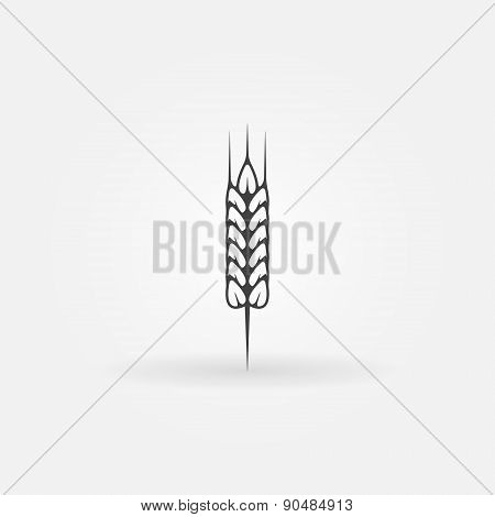 Wheat vector icon or logo