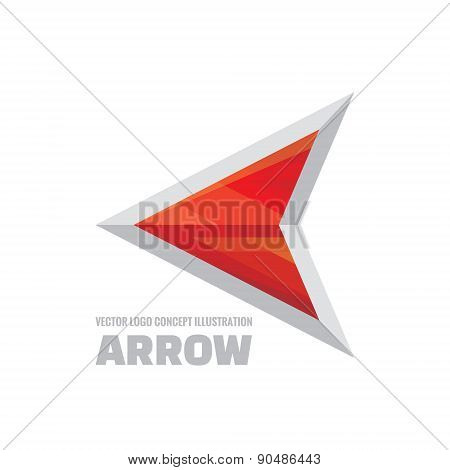 Arrow - vector logo concept illustration