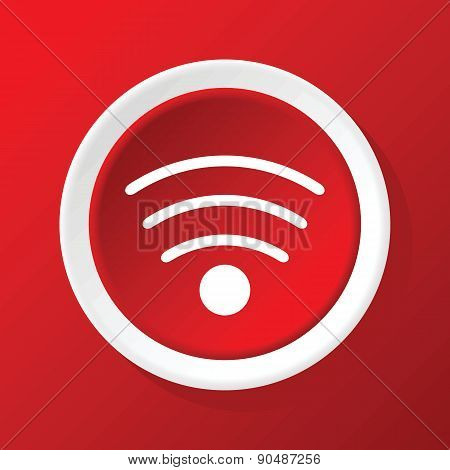 Wi-Fi icon on red