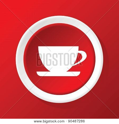 Cup icon on red