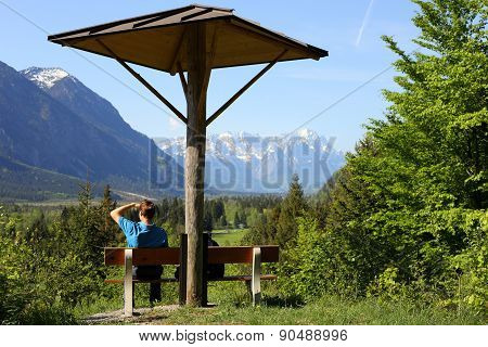 Hiker Is Relaxing
