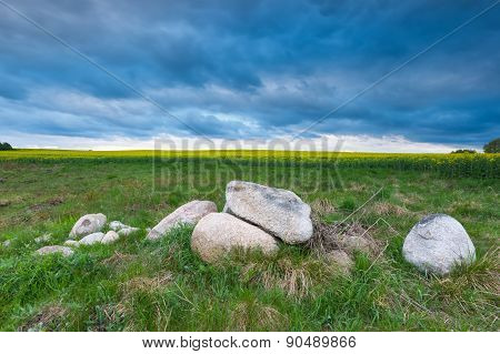 Big Stones On Green Field