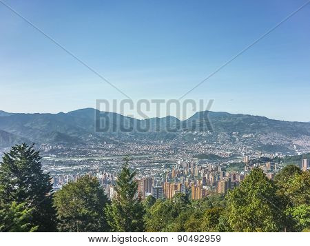 Aerial View Of Medellin Colombia