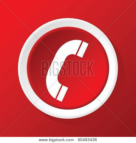 Call icon on red