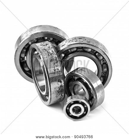 Bearings on a white background