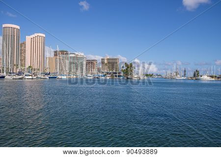 Ala Wai Harbor, Honolulu Hawaii.