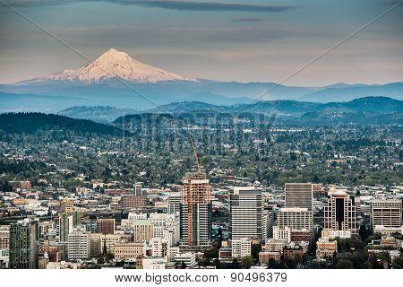 Portland And Mount Hood