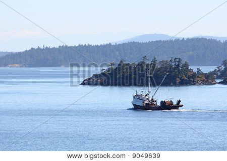 Fishing Seiner, Gulf Islands, British Columbia, Canada