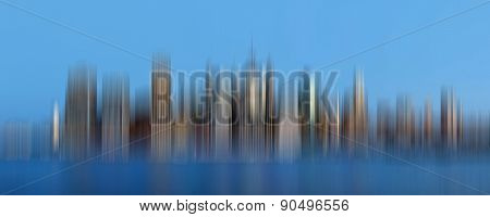 Early Morning New York City Skyline Panorama