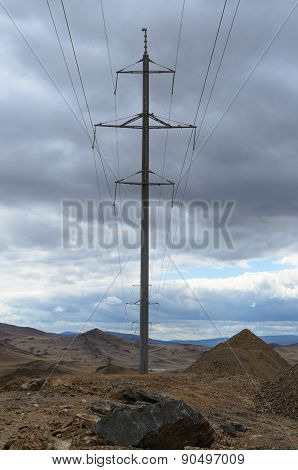 Landscape With Electricity Towers