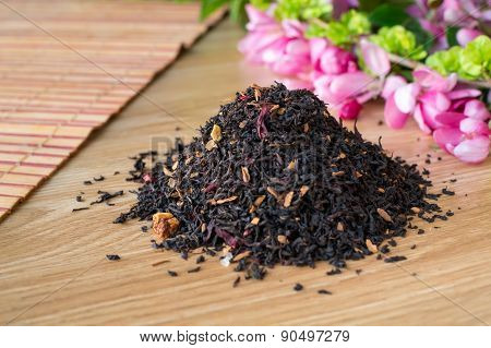 Blend Of Black Tea On A Table With Colours2.