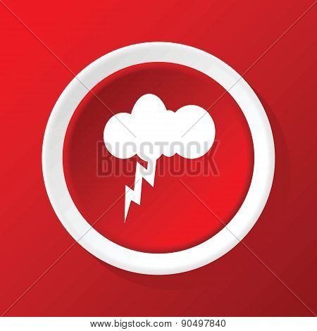 Thunderbolt icon on red