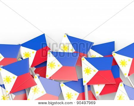 Flag Pin Of Philippines